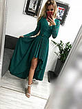 Платье женское Лиана вечернее ассиметричное с гипюровым рукавом, фото 5