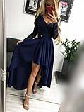 Платье женское Лиана вечернее ассиметричное с гипюровым рукавом, фото 7