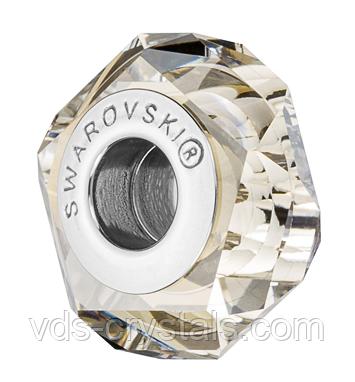 Хрустальные бусины Сваровски 5929 Crystal Silver Shade (упаковка 12 шт)