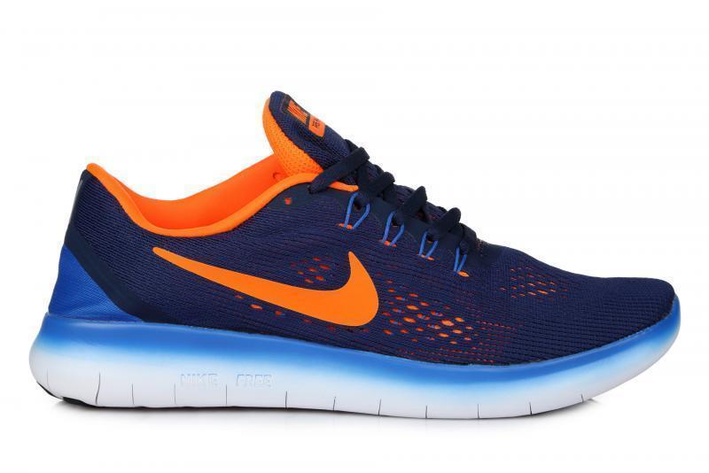 38339a4f Мужские кроссовки Nike Free Run Flyknit V.1 Blue White Orange|Мужские  кроссовки найк фри рун синие оригинал 41