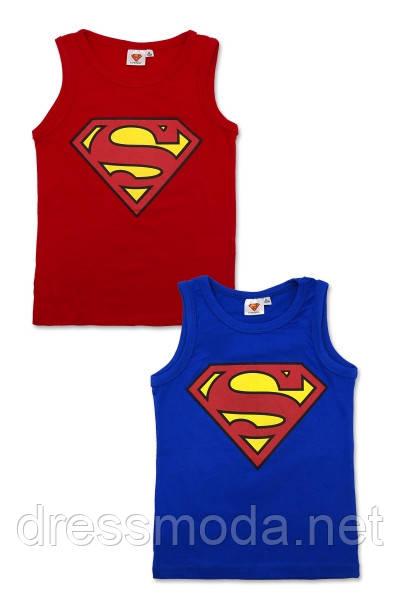 Майки трикотажные для мальчиков Superman 6-12 лет