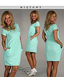 Платье туника женская длинна 90см с карманами, фото 3