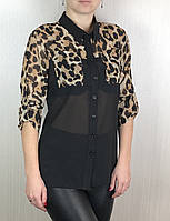 Женская рубашка c леопардом