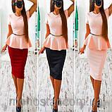 Платье женское деловое с баской красивое и модное, фото 5