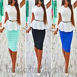 Платье женское деловое с баской красивое и модное, фото 6