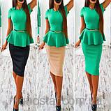 Платье женское деловое с баской красивое и модное, фото 7