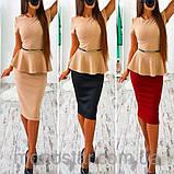 Платье женское деловое с баской красивое и модное, фото 8