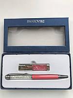 Набор флешка USBSwarovski и ручка с кристаллами в подарочной упаковке.