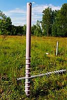 Винтовая свая многовитковая (геошуруп) диаметром  76 мм длиною 1.5 метра