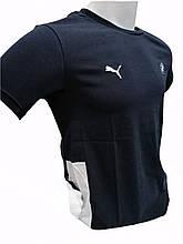Футболка брендовая мужская в стиле BMW турецкого производства Темно-синяя
