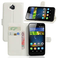 Чехол-книжка Litchie Wallet для Huawei Y6 Pro Белый