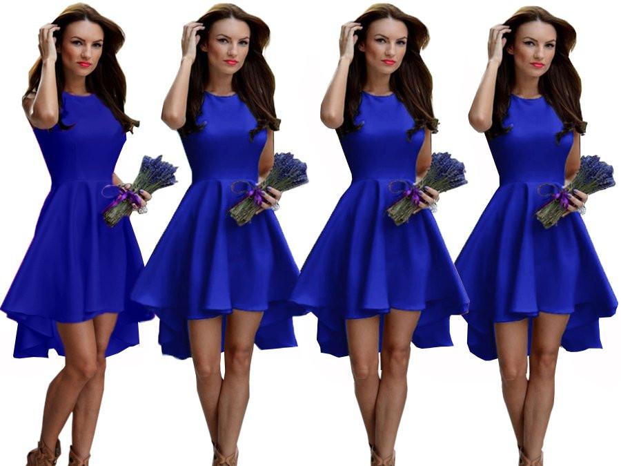 Платье женское красивое асиметричное веер без рукава пудра белое красное ментол