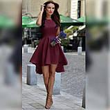 Платье женское красивое асиметричное веер без рукава пудра белое красное ментол, фото 3