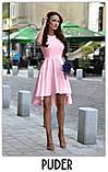 Платье женское красивое асиметричное веер без рукава пудра белое красное ментол, фото 7