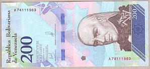 Банкнота Венесуэлы 200 боливар 2018 г. UNC