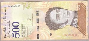 Банкнота Венесуэлы 500 боливар 2018 г. UNC