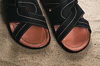 Шлепанцы Yuves (Clarks) F22 (лето, мужские, натуральная кожа, синий)