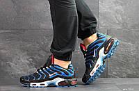 Мужские кроссовки Nike Air Max Plus Tn Ultra, артикул: 7515 черные с синим, фото 1