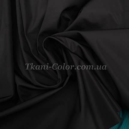 Ткань плащевка на основе президент черный , фото 2