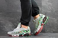 Мужские кроссовки Nike Air Max Plus Tn Ultra, артикул: 7514 серые с салатовым, фото 1