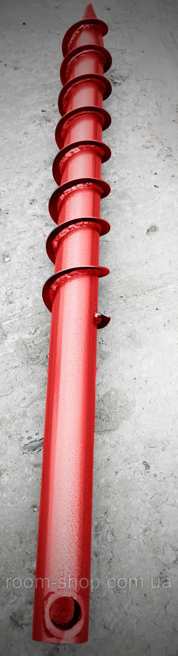 Многовитковая свая винтовая (паля) диаметром 76 мм длиною 2 метра