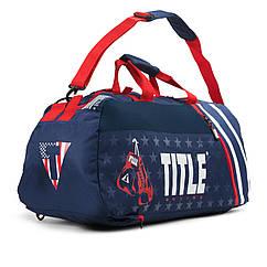 Сумка-рюкзак TITLE Boxing World Champion Sport Темно-синяя