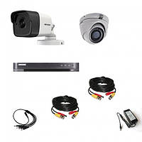 Комплект видеонаблюдения Hikvision Ultra HD 1уличн-1купол (металл)