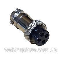 Разъем SX16 кабельный, гнездо, 4pin