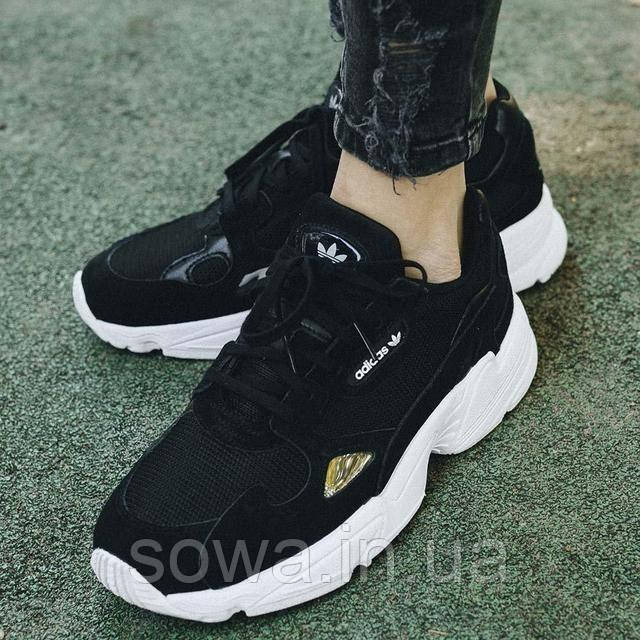 "✔️ Кроссовки Adidas Falcon W ""Black"""