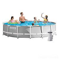 Каркасный бассейн Intex 26724, 457 х 107 см (3 785 л/ч, лестница, тент, подстилка)