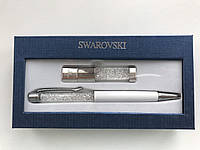 Набор флешка USB Swarovski и ручка с кристаллами в подарочной упаковке. , фото 1