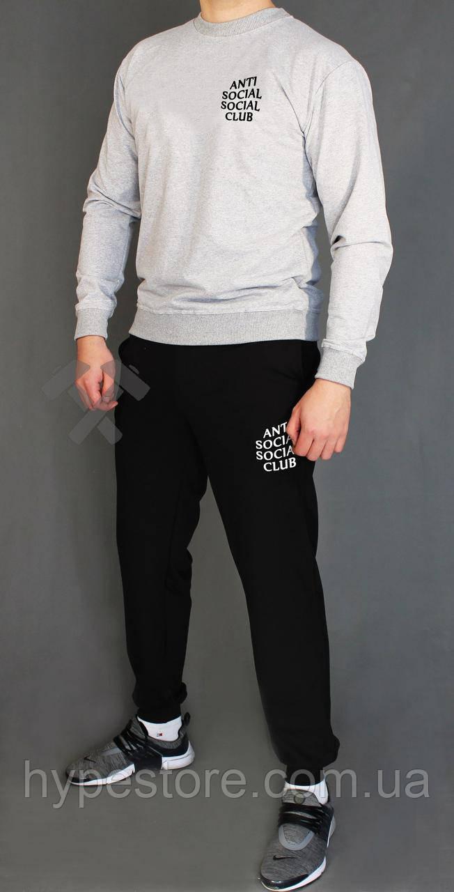 Мужской весенний комбинированный спортивный костюм, чоловічий костюм Anti Social Social Club, Реплика
