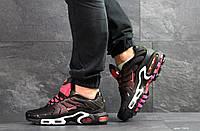 Мужские кроссовки Nike Air Max Plus Tn Ultra, артикул: 7508 черные с розовым, фото 1