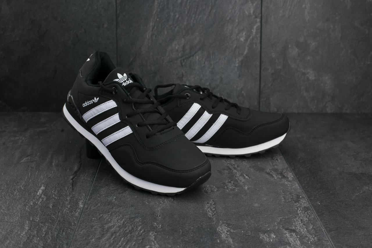 3f84dd53 Мужские кроссовки Adidas Haven Collegiate A 1807-1 кожзам 41 Черный-белый (A