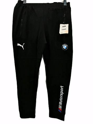 Мужские трикотажные брюки  BMW прямые спортивные штаны с эмблемой, фото 2