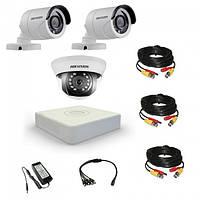 Комплект видеонаблюдения Hikvision Proffesional 2 уличн - 1 внутр