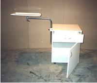 Тумбочка прикроватная со столиком надкроватным ТНС-1 (С КРАШЕННОЙ СТОЛЕШНИЦЕЙ)
