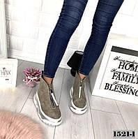 Демисезонные замшевые ботинки спортивного стиля, фото 1
