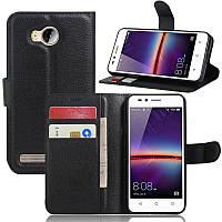 Чехол-книжка Litchie Wallet для Huawei Y3 II Черный