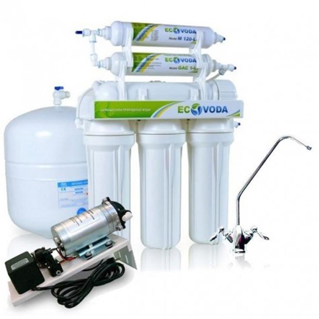 Система обратного осмоса ЭкоВода RO-6P с минерализатором и помпой