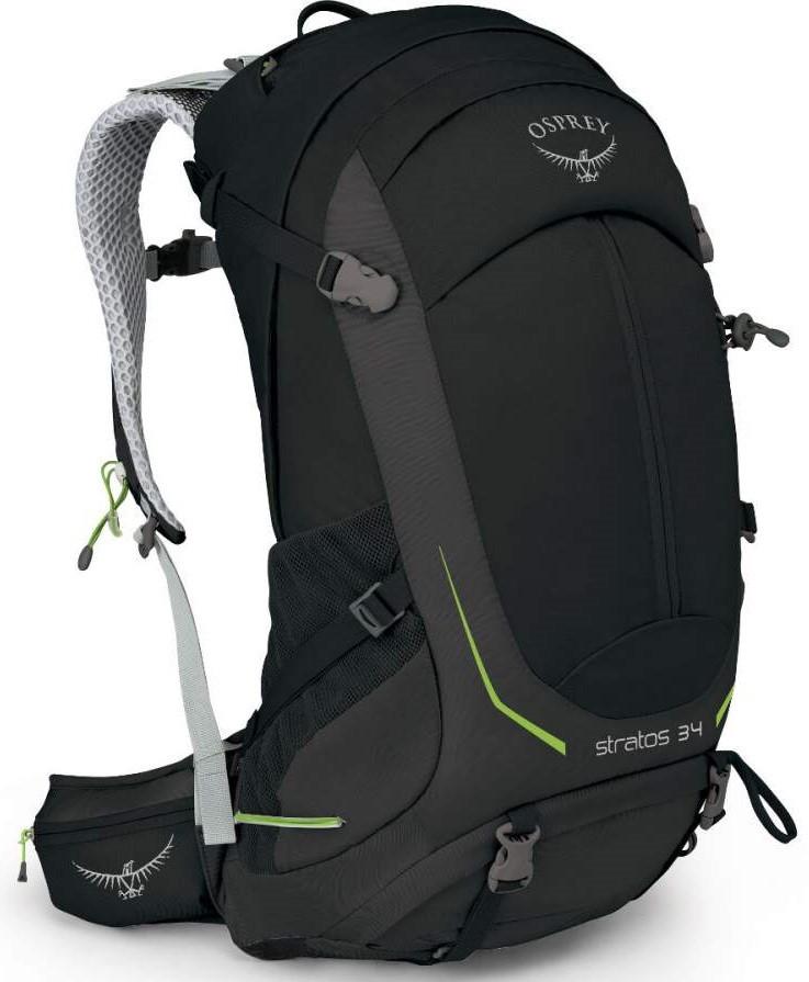 Туристическийрюкзак на 34 л. Osprey Stratos 34 Black009.1471, черный