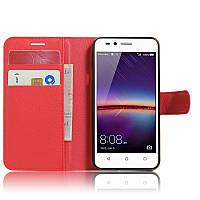 Чехол-книжка Litchie Wallet для Huawei Y3 II Красный