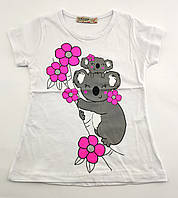 Детская футболка 1 2 3 4 7 8  лет Турция для девочки майка детские футболки майки на девочку
