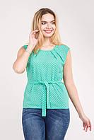 Стильная   женская блузка с поясом   Размер 42 44 46 48