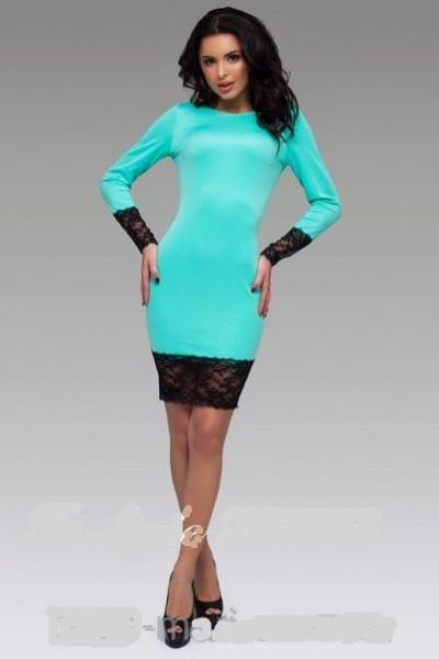 Плаття футляр з широким мереживом довгий рукав від виробника 44 46 48 50 Р