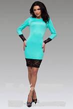 Платье футляр с широким кружевом длинный рукав от производителя 44 46 48 50 Р