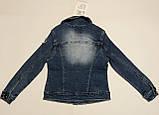 Джинсовый пиджак для девочек 4-10 лет, фото 3