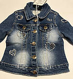 Джинсовый пиджак для девочек 4-10 лет, фото 2