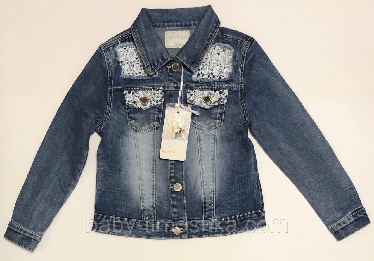 Джинсовый пиджак для девочек 8 лет