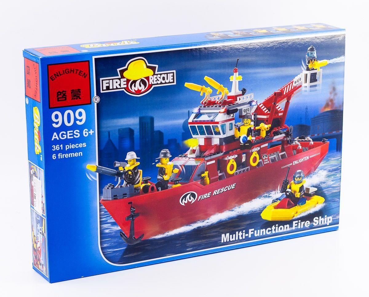 """Конструктор Brick 909 """"Катер пожарной службы"""", 361 дет"""